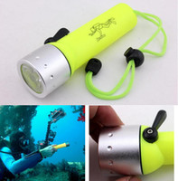 Wholesale Scuba Diving Lights Wholesale - Professional Underwater Diving Scuba Flashlight Torch XPE-Q5 Led Light Waterproof Lamp For Diving Lantern Diver Water Sports Free Shipping