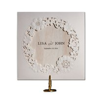 Wholesale laser cut wedding invitations cheap - Wholesale- 12pcs lot Cheap White Vintage Laser Cut Lace Flower Wedding Invitations Elegant Birthday Party Decorations Cards 2016 New JJ785