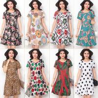 Wholesale Wholesale Summer Dresses China - New fashion Women Casual Dress Plus Size Cheap China Dress 24 Designs Women Clothing Fashion half Sleeve summer Dress BA012