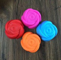 Wholesale Silicone Baking Molds Muffin - 20PCS Silicone Cake Molds Rose Flower Shaped Cupcake Muffin Chocolate Pudding Grade Silicone Moulds Case Cake Tools Baking Bakeware