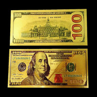printing block people - New Coloured Gold Foil Dollar Banknotes Commemorative banknotes Paper Money for Christmas Gifts Collections Arts Crafts for Home