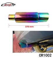 Wholesale Stainless Steel Exhaust Muffler - RASTP - Hi Power Universal 304 Stainless Steel Exhaust Pipe Racing Muffler Tip Car Exhaust Pipe RS-CR1002