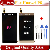 Wholesale Display Huawei - 1Pcs Original Quality AAA For Huawei P8 LCD Display Touch Screen Glass Digitizer Replacement Ascend P8 GRA-UL00 -UL10 GRA-L09 With Tools