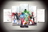 ölgemälde schloss landschaft großhandel-5 Stück Rächer moderne Kunst Malerei Leinwand HD Print Raumdekor Bild (mit Montagezubehör, ungerahmt nur Leinwand)