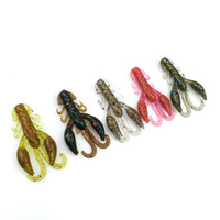 Wholesale bionic shrimp lures for sale - Fishing Lure Fishy Smell Tail Bait Portable Fish Gear Bionic Decoy Shrimp Soft Worm Five Color Selection hy F
