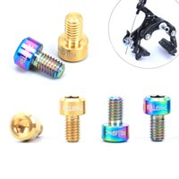Wholesale Cable Brake Caliper - Wholesale Titanium Alloy Bicycle Screws M6*10mm Caliper Brake V-Brake Cable Pinch Bolts Fastener 2PCS Bike Parts MN0439