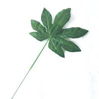 Wholesale Wholesale Silk Maple Leaves - Artificial maple leaf wedding Flower baskets arrangement Accessories Green leaves Big leaves Silk Artificial decoration flowers
