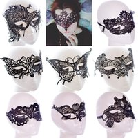 Wholesale lace mask for women - New Sexy Lace Party Masks Women Ladies Girls Masquerade Mask Venetian Half Face Mask Christmas Cosplay Party Eye Masks WX-M07