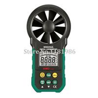 anemómetro de mano al por mayor-Al por mayor-AIMO / aimometer volumen MS6252A alta calidad digital portátil Anemómetro velocidad del viento del aire de medición del medidor con luz de fondo