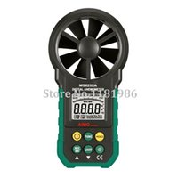 Wholesale Air Wind - Wholesale-AIMO aimometer MS6252A High Quality Digital Anemometer Handheld Wind Speed Air Volume Measuring Meter with Backlight