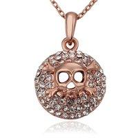facebook gold venda por atacado-Frete grátis para as mulheres do Facebook 18 k colar de pingente de jóias de ouro WGN676, um ++ Rose ouro branco gemstone Colares com correntes
