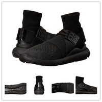 Wholesale Sport Ankle Boots For Women - 2017 Autumn Winter Running Shoes Y3 Qasa Elle Lace Knit Ankle Boots For men Women Sneaker Boot Outdoor Sports