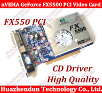 Wholesale Ddr 256mb - Wholesale- Free Shipping 100% NEW nVIDIA GeForce FX5500 256MB 128bit DDR VGA DVI PCI Video Card