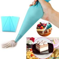 Wholesale Disposable Gift Bags - Wholesale- 1 PC Blue Reusable Silicone Pastry Bag Icing Piping Bags Cream Cake Bake Decoration Happy Gifts High Quality