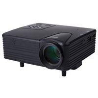 caixa mini dvd venda por atacado-Atacado-Full HD Home Theater projetor H80 mini portátil LCD projetor 80 Lumens suporte 1080 p com AV / VGA / SD / USB / HDMI para DVD PC tv box