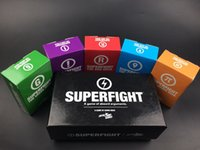 Wholesale Trade Stockings - IN STOCK SUPERFIGHT Cards Game And The Expansion Pack Red Blue Orange Purple Green The Card Game Core Card Deck Compare To Cards Against