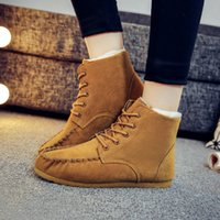 Wholesale Trend Women Winter Boots - 2016 Fashion trends! Autumn and winter snow boots pure sweet lady all-match tube warm cotton shoes