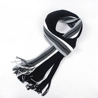 Wholesale Mens Warm Wraps - Wholesale- Fashion Striped Cotton Scarf Mens Autumn and Winter Scarves Shawl Wrap Casual Warm Men Business Scarf Echarpe