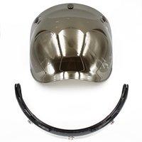 Wholesale Vintage Bubble Shield - Wholesale- bubble visor top quality open face motorcycle helmet visor 4 color available vintage helmet windshield shield