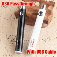 Wholesale Ego V Twist - Evod Twist UGO-V eGo C Twist 650 mAh 900 mAh Vape pens Passthrough battery 3.3V-4.8V Variable Voltage Battery PK Vision2 II EGO USB battery