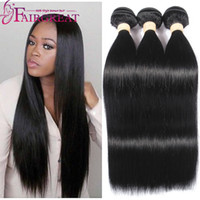 Wholesale Cheap Brazilian Hair Unprocessed - Brazilian Straight Human Hair Bundles 100% Unprocessed Brazilian Human Hair Extensions 8-28inch Cheap Brazilian Human Hair Weave Bundles