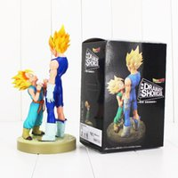 Wholesale Dragonball Z Goku Vegeta - 20cm Dragonball Vegeta Trunks father with son Goku PVC Action Figures DRAMATIC SHOWCASE Dragon Ball Z Model Toy