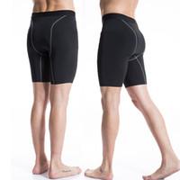 Wholesale Skinny Sweat Shorts Men - Wholesale- Mens Compression Tights Male Shorts Quick Dry Elastic Bodybuilding Crossfit Sweat Shorts Slim Fitness Men Causal Short Pants
