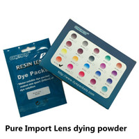 Wholesale glass dyes - 10pcs Resin glasses Lens Tinting Powder Material eyeglasses Color Tint Dying Dye Solution Packet E4710 Free Shipping