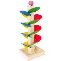 Multicolor sprint tracking - 1 Set Hot Sale Montessori Kids Wooden Toy Tree Marble Ball Drop Run Sprint Track Game Fun Toys for Children Intelligence Blocks