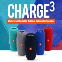 Wholesale Top Sound Box Speaker - New Charge 3 Bluetooth Speaker Waterproof Portable Outdoor Subwoofer Speaker HIFI Wireless Speakers Top Quality