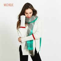 Wholesale Women Skinny Toned - Muchique New Scarf Women Skinny Stripe Ombre Classic Scarves Two Tone Fashion Shawl with frayed edges