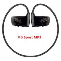 Wholesale Free Walkman - Wholesale- 2017 High quality 8GB Sport MP3 player W262 Stereo Headset MP3 headphone for sony walkman mp3 player free shipping