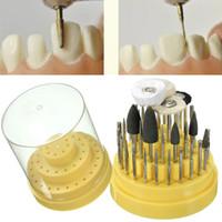 Wholesale Dental Lab Silicone - Oral Hygiene Teeth Whitening New 41Pcs Dental Lab Silicone Rubber Rotary Tungsten Steel Polishing Burs 2.35mm