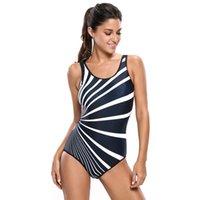 Wholesale Cheap Thong Swimwear - Swimwear Women Black Monochrome Oblique Stripes Thong One Piece Swimsuit 2017 Cheap Sexy Bathing Suits Zwempak