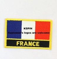 Wholesale Clothing Wholesalers France - France Flag Patches Iron on patches,embroidery patches,logo embroidery patches,embroidery patches for clothing,custom embroidery patches 000