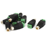 Wholesale terminal adapters for sale - 100pcs Screw terminal block to RCA female for TV Video adapter Cinch connector