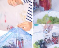 Wholesale umbrella mosquito resale online - Hot Dining Gauze Food Cover Umbrella Style Picnic Anti Fly Mosquito Net Tent Meal Cover Table Mesh Food Cover Kitchen Tools