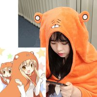 Wholesale Costume Anime - Japanese Anime Himouto! Umaru-chan Cloak Doma Umaru Cosplay Costume Flannels Cloaks Home Dress Blanket Soft Cap Hoodies