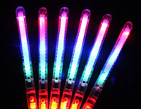 Wholesale Led Glowing Wand - DHA39-1 LED Flash Light Up Wand Glow Sticks Kids Toys For Holiday Concert Christmas Party XMAS Gift Birthday