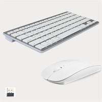 клавиатура новая оптовых-Модный дизайн 2.4 G ультра-тонкий беспроводная клавиатура и мышь Combo новые компьютерные аксессуары для Apple Mac PC Windows XP Android Tv Box