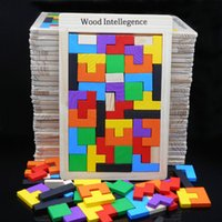 Wholesale Toys Ship Russia - Wholesale- Free shipping Children's Wooden Intelligence Russia Block, Kids Educational blocks toys, Multi-function tetris blocks
