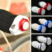 Wholesale Bike Decoration Accessories - Wholesale- 1Pair Mountain Bike Handle Grip Plug Light LED Waterproof Bicycle Lights Cycling Safety Warning Decoration Lamp Bike Accessory