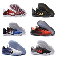 Wholesale Kobe Size 11 - 2017 kobe 11 Elite Men's Basketball Shoes for Top quality Black White XI KB Weaving Sports Training Sneakers athletic trainers Size EUR 7-12