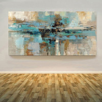 Wholesale Huge Decor Modern Abstract - Hand Painted Modern Huge Abstract Wall Decor Art Oil Painting On High Quality Canvas.Multi sizes Ab018
