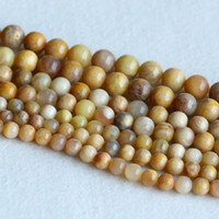 "Wholesale 12mm Loose Beads - Real Genuine Natural Yellow Oligoclase Sunstone Round Loose Gemstone Ball Beads 8mm 10mm 12mm 15"" 05149"