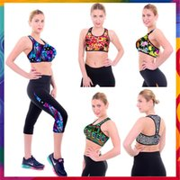 Wholesale Women Dot Printed Sports Bra Professional Gym Tank Sports Top Red Fitness Push Up Bra Running Vest Padded Yoga Bra Underwear