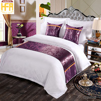 Wholesale Design Flower Bedding - 50*180Cm New Arrival Bed Runner Bedding Hotel Supplies Western Fashion Flower Pattern Design Bed Runners Bedrunner Bedding Cover Purple