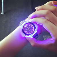 Wholesale Silicone Watch Led Light - Fashion Tide LED Light Cool Tide the Female Form Student Casual Sports Personality Jelly Luminous Watches Clock Hours saat