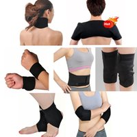 Wholesale Magnetic Therapy For Pain - 11 pcs set Tourmaline Self Heating Kneepad Magnetic Therapy Foot Tourmaline Heating Belt Massage For Keeping Warm&Relieve Pain Fast Shipping