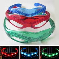 Hot Spiderman LED Light Glaces clignotantes Gift Cheer Dance Mask Christmas Halloween Days Gift Nouveauté LED Glasses Led Rave Toy Party Glasses